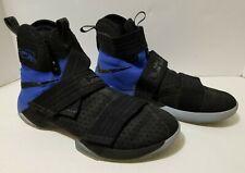 Nike LeBron Soldier X 10 SFG Black Blue Basketball 844378-004  Men's Size 11