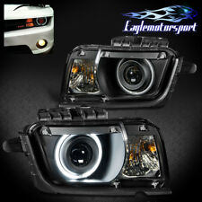 [CCFL Halo] 2010 2011 2012 2013 Chevrolet/Chevy Camaro Projector Headlights Pair