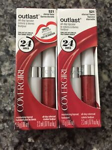 2x Covergirl Eternal Flame Outlast All Day Lip color Lipstick 521