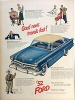 1952 Ford Automobile Vintage Advertisement Print Art Car Ad Poster LG71