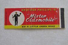 f22 Vintage Matchbook cover Brother Phillips is Mister MR Oldsmobile Olds auto