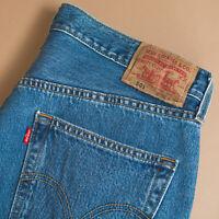 Vintage Levi 501 Jeans Blue Button Fly Red Tab Unisex (Patch W36L32) W 34 L 31