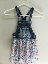 Jordache Denim Bib Overall Dress Jumper Fabric Skirt Girl's Size XS - 4 - 5