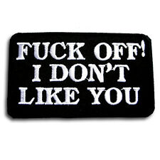 I Don't Like It Patch Iron on Harley Chopper Biker Rider Vest Saying Race Text