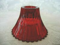 Collectible Ruby Red Cranberry Stained Glass Tealight / Votive / Candle Holders