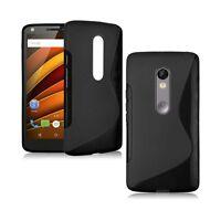 para Motorola Moto X FUERZA Sintético Funda s-line silicona gel