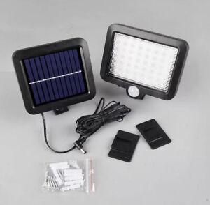 56 LED Solar Light PIR Motion Sensor Control Wall Flood Yard Outdoor Lamp
