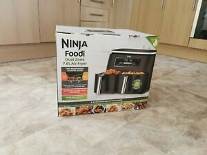 Ninja AF300UK 7.6l Foodi Dual Zone Air Fryer and Dehydrator - Grey