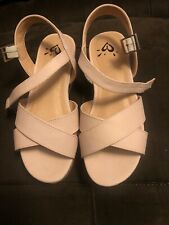 Justice For Girls Size 2 Sandals Light Pink Wedge