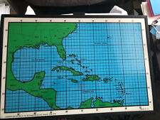 Vintage 1980's Dry Erase Hurricane Tracking Chart North America Map
