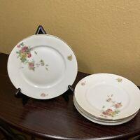 "Vintage Edelstein Bavaria Queen's Rose 8"" Salad Dessert Plate Set Of 5"