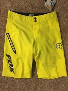 Fox Racing Attack ULTRA Q4 Cycling Short 30 inch waist, Yellow MSRP $170