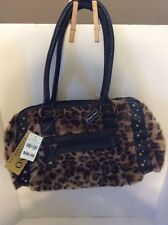 Bye on Collection Black Faux Leopard Print Handbag New