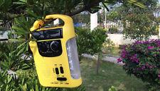 Hand Crank LED Camping Lantern Flashlight FM / AM Radio Solar Emergency Charger