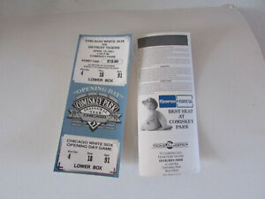 1991 COMMEMORATIVE CHICAGO WHITE SOX TICKET INAUGURAL OPENING DAY TICKET