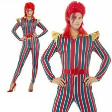 Space Superstar Costume - Mens Fancy Dress Bowie Ziggy David Adults Stardust