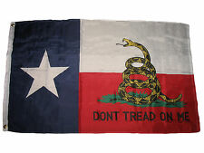 Texas Gadsden Poly Flag 3x5 3'X5' Don't Tread on Me Tea Party Rattlesnake (RU)