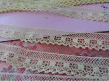 """French Lace Valencienne vintage Trim 2+ yards floral 5/8"""" yellow dolls edging"""