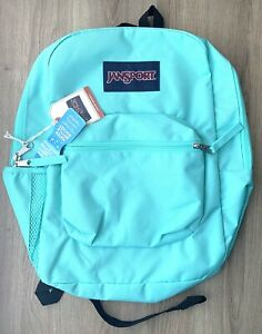 JANSPORT CROSS TOWN BACKPACK TROPICAL TEAL GREEN BLUE NEW WITH TAGS