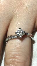 Platinum Diamond Ring Size H, 0.4ct.