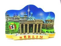 Berlin Magnet Brandenburger Tor mit Collage Poly Souvenir Germany