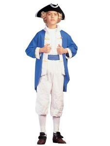 George Washington - Alexander Hamilton - Blue/White - Costume - Child - 2 Sizes