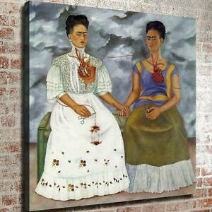 """24x24"""" Frida Kahlo """"The Two Fridas"""" HD print on canvas canvas ready to hang"""