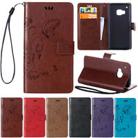Magnetic Flip Leather Wallet Holder Case Cover For HTC M8 M9 Desire 820 816 626