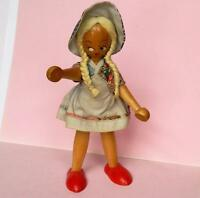 VINTAGE POLISH WOODEN PEG DOLL FROM THE 1960s