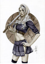 SUCKER PUNCH - Sexy Pin-Up Print by Lady Death Artist ALEX MIRANDA (dw132)