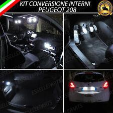 KIT LED INTERNI ABITACOLO PEUGEOT 208 + LED TARGA CANBUS NO ERROR BIANCO