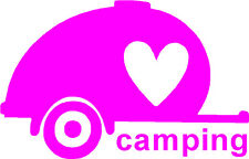 Love Camping Teardrop - Tiny Camper,RV,Camping/Hiking Sticker Decal