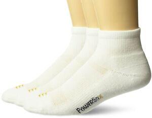 PowerSox Cushion Quarter Socks With Coolmax, 3 Pairs Shoe Size: 9-12.5 White