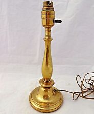 Antique Edwardian Brass Candlestick Shape Table Lamp Base 1900 - 1920 12 3/4 in