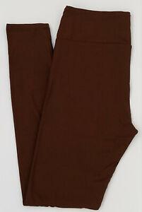 TC LuLaRoe Tall & Curvy Leggings Beautiful Solid Chocolate Brown Rare ! NWT 09