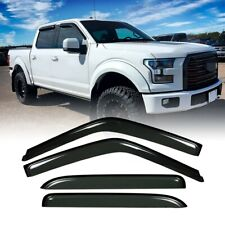 Fit For Ford F-150 Crew Cab Pickup 2015-2019 94975 Window Visors CB822VW 4pc/set
