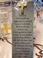 Godparent's Lapel Pin Prayer Bookmark For Baptism, Holy Communion & Confirmation