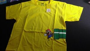 Nintendo Super Mario Bros  Green Pipe 30th Anniversary 2015 Promo Shirt Rare