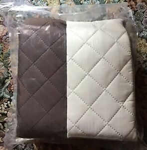 NEW 3 Piece Set Couch Coat Reversible Cover For Couch- Love Seat- Chair Bge/Brn
