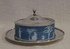 19th Century Wedgwood Jasperware Round Covered Butter Dish