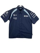 Williams Racing Button Down Shirt Formula One 1 RBS AT&T Philips Motor H999 XL