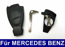 2T Schlüssel Gehäuse + Batteriehalter für Mercedes Benz W169 W202 W203 W208 W210