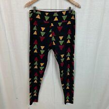 LuLaRoe TC TALL & CURVY Women's Leggings Geometric Print Triangles Casual