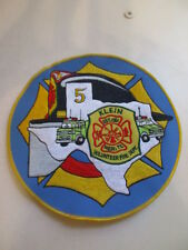 Iron-On Patch - Large Embroidered Patch - Klein TX - Volunteer Fire Dept.
