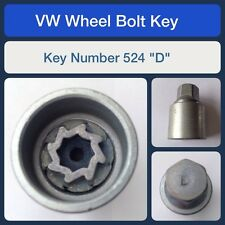 "Genuine VW Locking Wheel Bolt / Nut Key 524 ""D"""