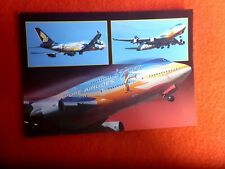 SINGAPORE  AIRLINES TROPICAL MEGATOP BOEING 747-412 POSTCARD UNUSED AUSTRALEX