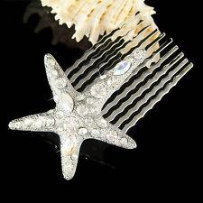 w Swarovski Crystal Bridal ~Starfish Hair Comb~~ Star Fish Beach Wedding Jewelry