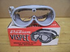Antique NOS Vintage Stadium Project 4 Helmet Goggles Motorcycle Scooter