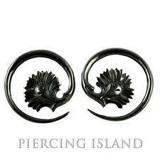 Paar 1 5mm Ohrringe Spiralen Horn Piercing Design Style 313