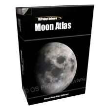 MOON ATLAS 3D Globe visualizzazione vista ASTRONOMIA selenology SOFTWARE CD-ROM